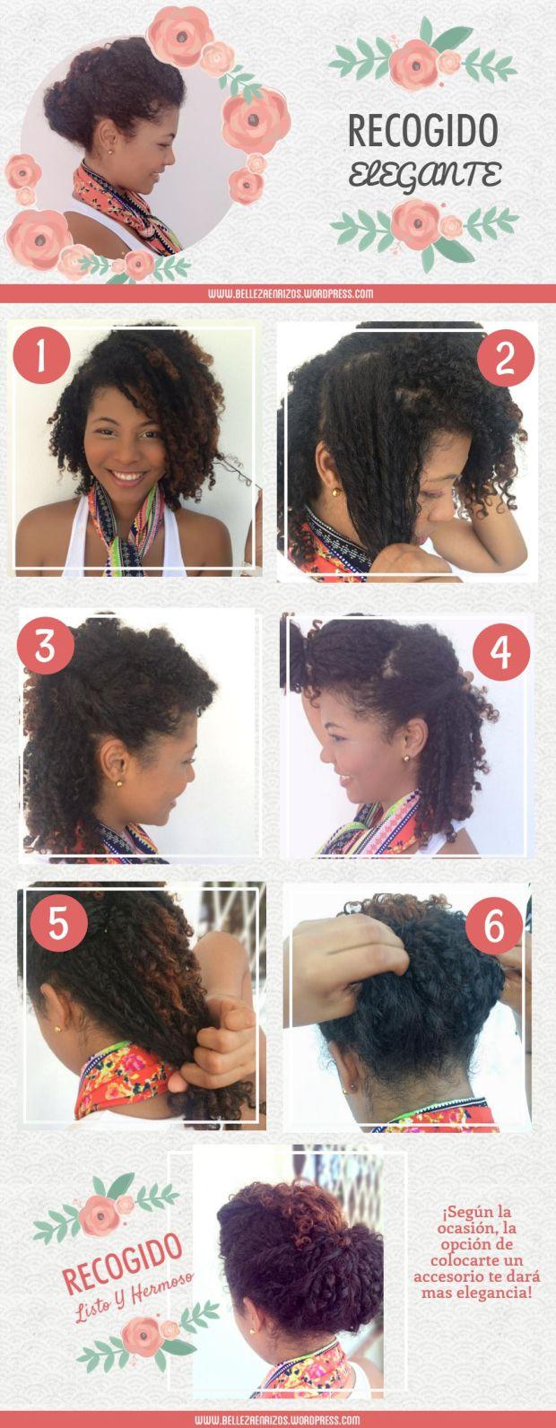 Recogido elegante | Paso a Paso  Hoy les voy a enseñar como hacer este peinado elegante con tu cabello rizado. Revisa el blog belleza en rizos para mas información.   #Peinado#Hairstyle #Rizos #Curlyhair #Pasoapaso #Recogido #Elegante #TipodePeinado #FingerCoils