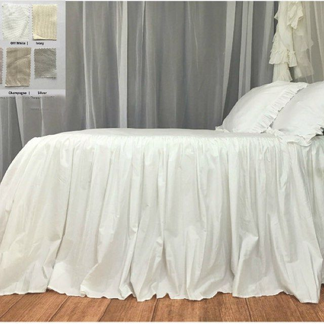 It's so easy to make a bed with this ruffled bedspread available in White Off White Ivory Silver Lilac Champagne custom made custom drop (from http://ift.tt/2iUB9z8)   #shabbychicbedding #farmhouse #farmhousestyle #farmhousedecor  #cottagestyle #cottageliving #mycottageinstincts #farmhousechic #farmhousebedroom #farmhousebedding  #rufflebedding #ruffles #ruffleswithlove #bedspread #rufflebedcover