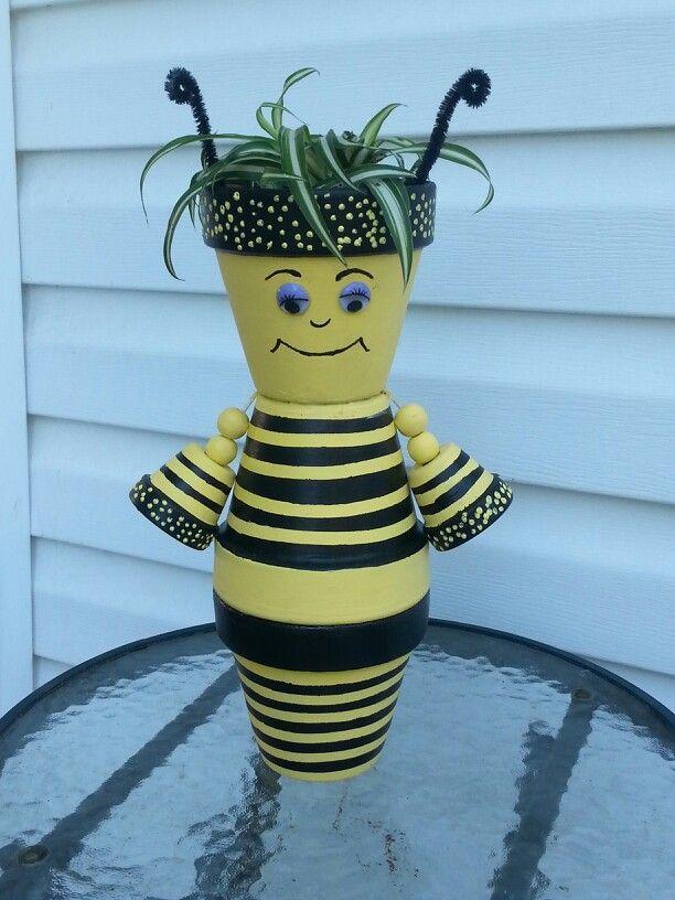 Terra Cotta Queen bee by Sandy