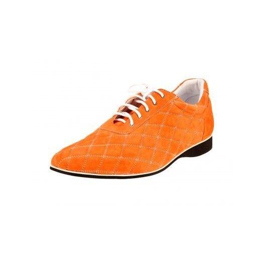 Pánske kožené športové topánky oranžové PT134 - manozo.hu