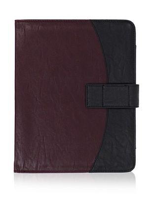R J Handbags Women's Flap iPad Case (Burgundy)