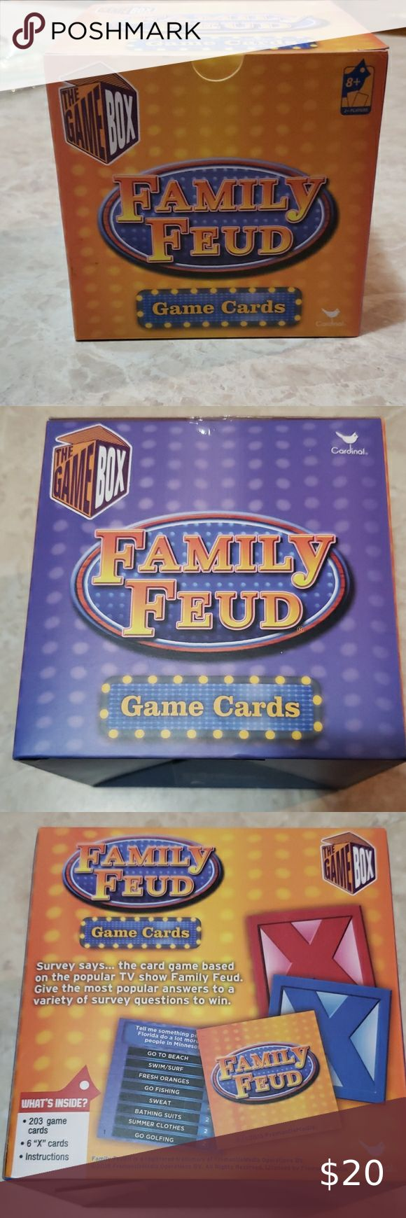 Family Feud Game Cards in 2020 Family feud game, Family