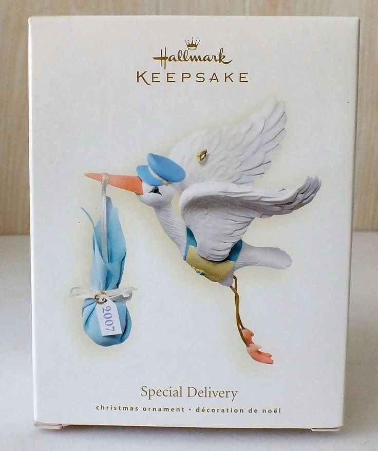 "Hallmark Keepsake Ornament Special Delivery NIB 2007 ""It's a Boy Blue"" Stork"
