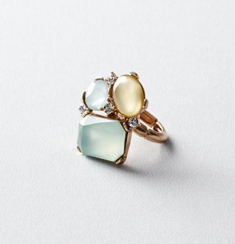 #Ann Taylor Loft          #ring                     #Green #Stone #Cluster #Ring                        Green Stone Cluster Ring                            http://www.seapai.com/product.aspx?PID=784373