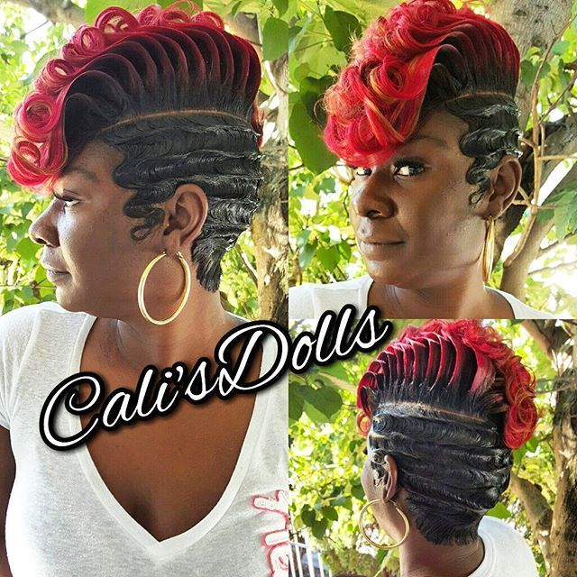 Quickweave Scstylist Fingerwaves Sexy Fierce Pinterest Hair Style Short Hair And Shorts