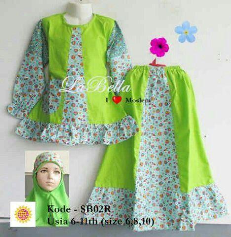 Baju muslim anak brand LaBella,bahan katun jepang. Untuk usia 6-11th.   Harga 130rb Ready  -size 6 (6-7th) -size 8 (8-9th) -size 10 (10-11th)  Info/Order : Pin bbm 7D216AC5 WhatsApp 081314120672 Line ummuzzahro