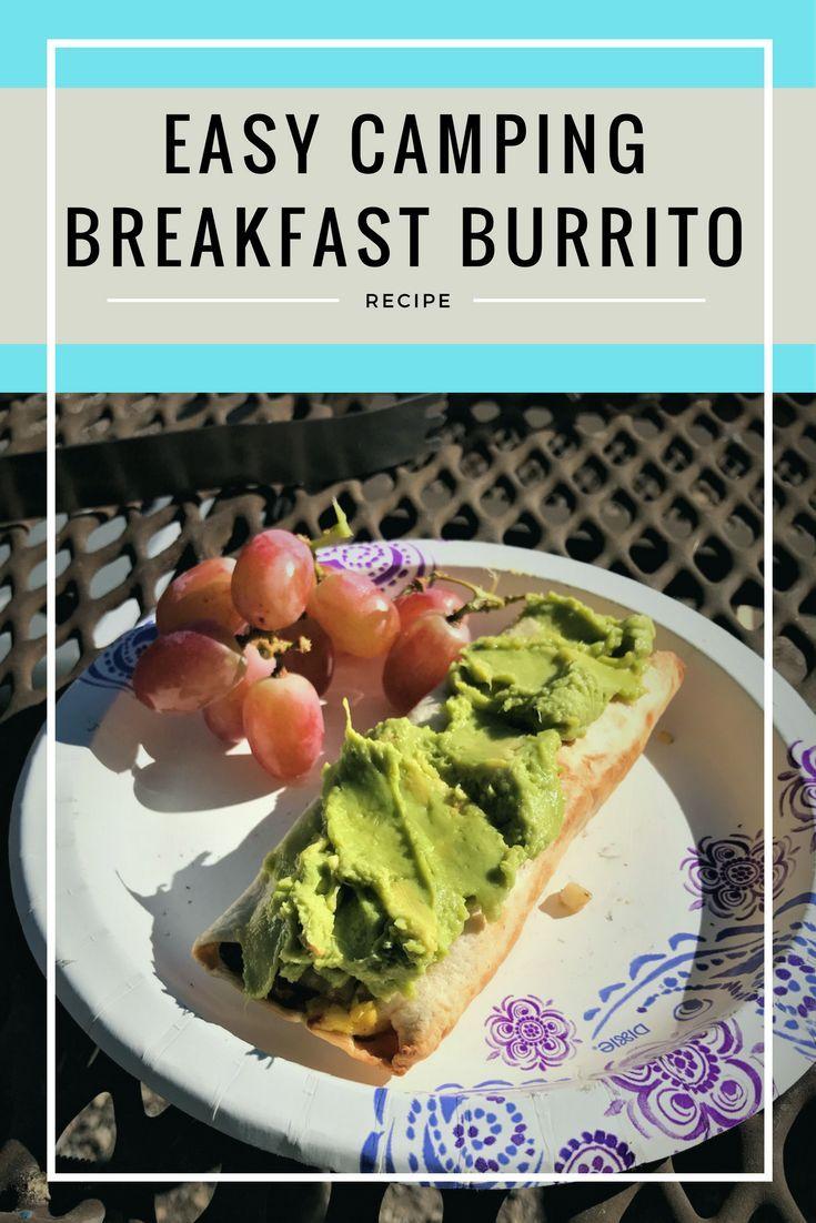 A Great EASY HEALTHY Camping Breakfast Idea Burritos