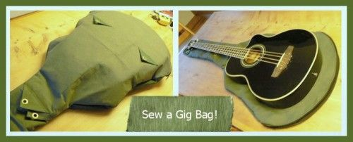 Sew a Gig Bag for a Guitar, Bass, Ukulele, or Banjo – Free Tutorial A thoughtful gift to sew for musicians!
