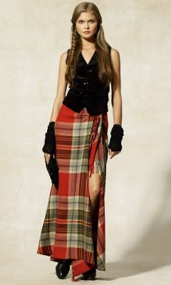 Aberdare Plaid Wool Skirt. I'm in love with Ralph Lauren!