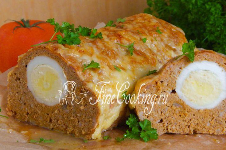 Митлоф (мясной хлеб) с яйцом - рецепт с фото