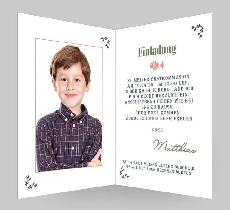 19 besten einladungen invitations kommunion konfirmation bilder, Einladung