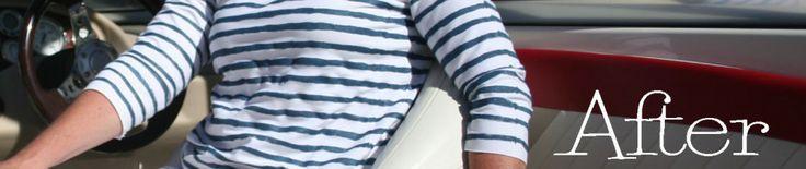 DIY Nautical Painted Striped Shirt 9