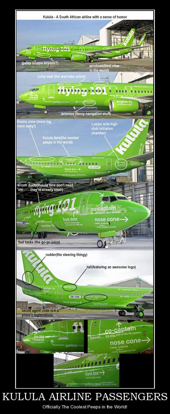 @  Kulula – A south African airline with a sense of humor
