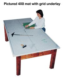 """""""Large cutting mats & extra large mats self sealing USA made for quilting, sewing, and sign making have custom cut to cutting table or bench"""""""