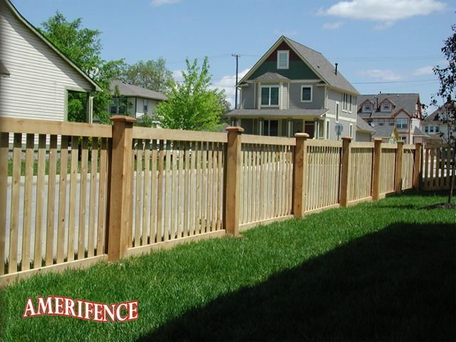 framed picket fence wood fence