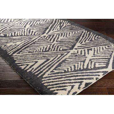 Jill Rosenwald Rugs Orinocco Hand-Woven Black/Beige Area Rug Rug Size: 8' x 10'