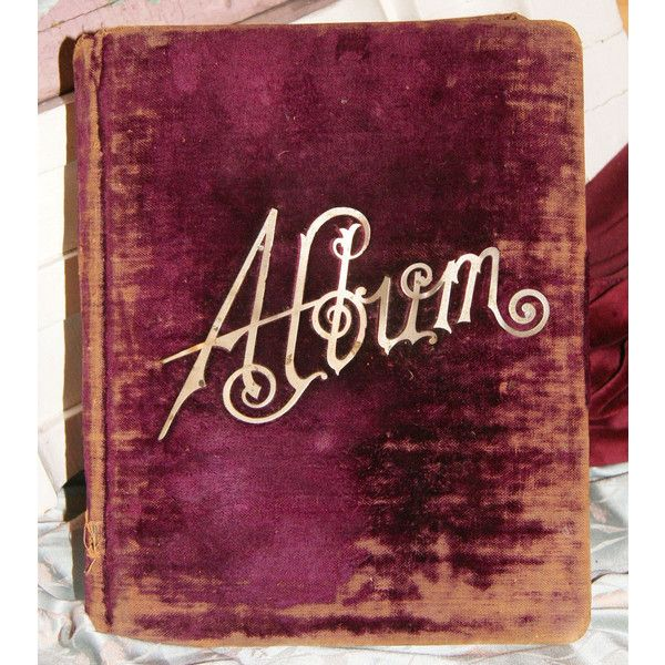 Antique Victorian Photo Album Vintage Burgundy Velvet Photograph Album... ($57) ❤ liked on Polyvore featuring home, home decor, frames, movie home decor and velvet photo album