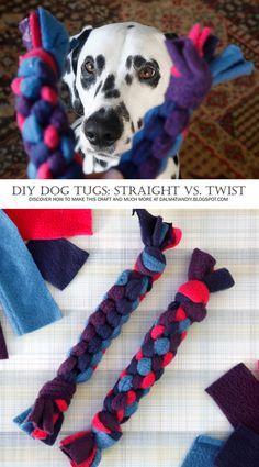 How to Make DIY Dog Toys: Basic Box Knot vs. Twisted Box Knot DIY Woven Fleece Dog Tug Toys