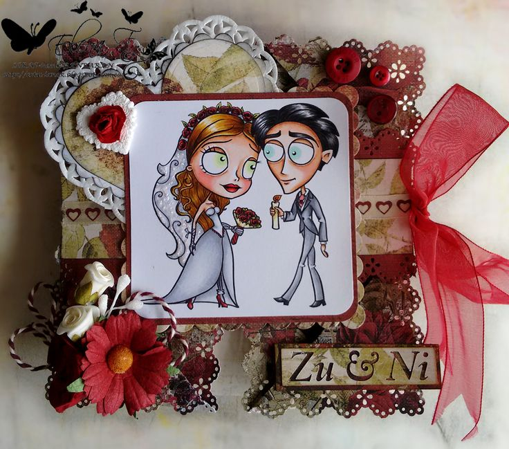 SCRAP-lanak GANBARAN: Wedding napkin folded card Alicia Bel