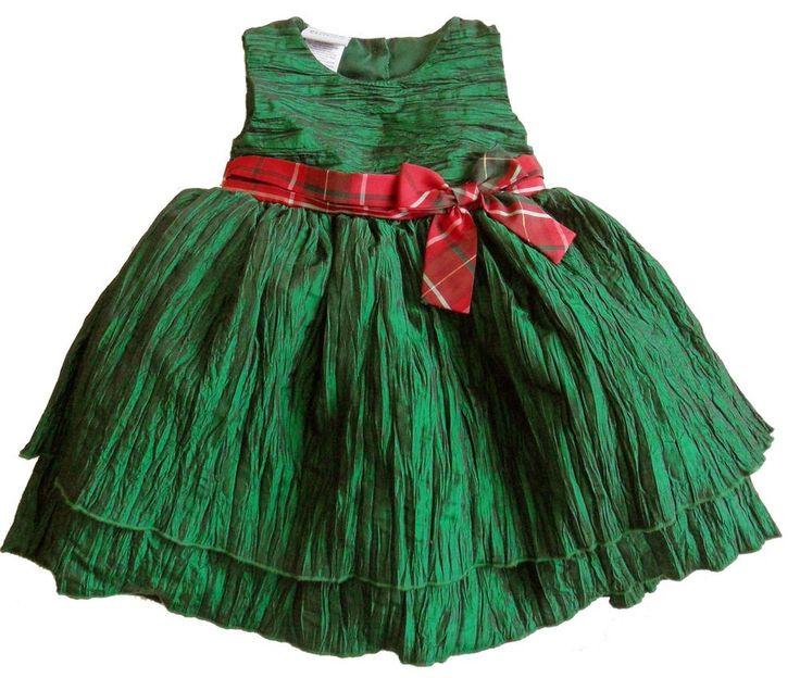 new $58 BLUEBERI BOULEVARD girls 18 mo STUNNING GREEN CHRISTMAS DRESS nwt #BlueberiBoulevard #Holiday