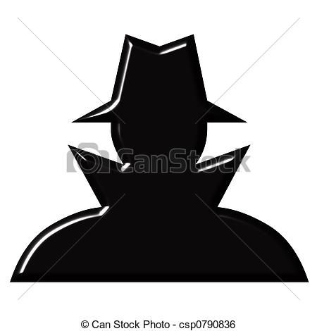 Stock Illustration - Spy - stock illustration, royalty free illustrations, stock clip art icon, stock clipart icons, logo, line art, pictures, graphic, graphics, drawing, drawings, artwork
