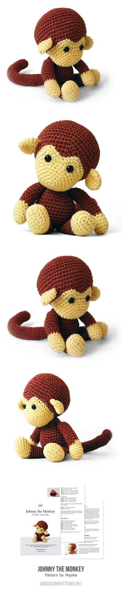 Johnny The Monkey Amigurumi Pattern