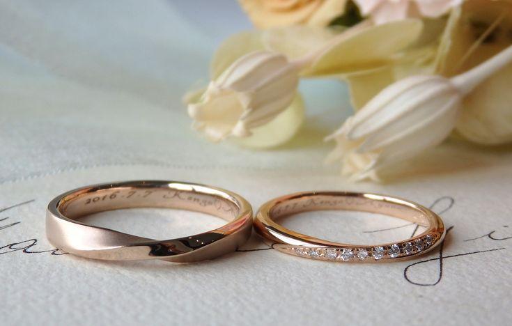 ピンクゴールド結婚指輪ithマリッジ [marriage,wedding,bridal,ring,K18,Gold,Pink,ピンクゴールド,ダイヤモンド,イズ,ウエディング]