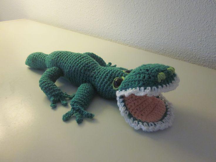 krokodil gehaakt door Gerda