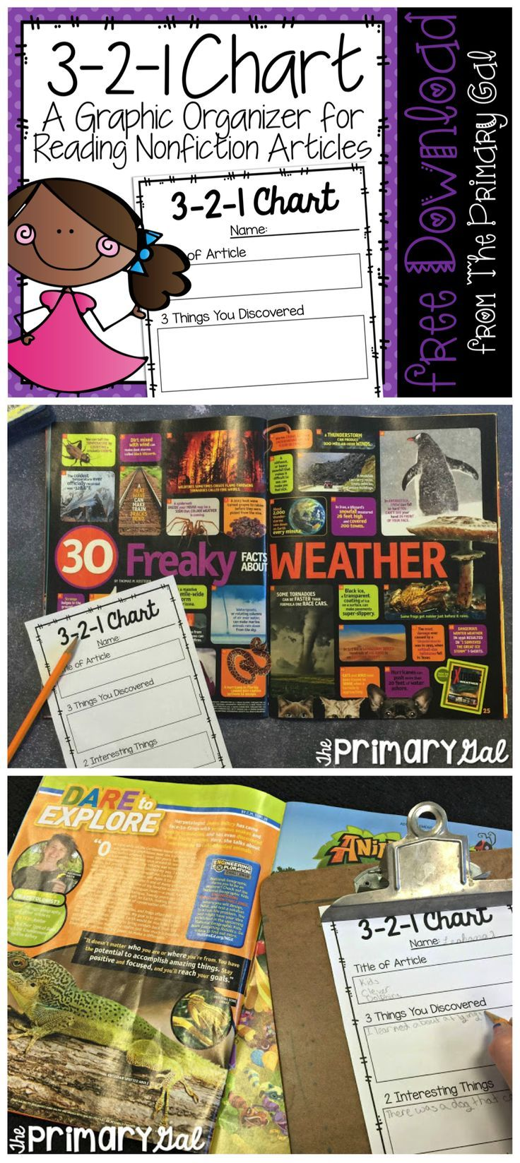 321 Chart: A Free Nonfiction Reading Center