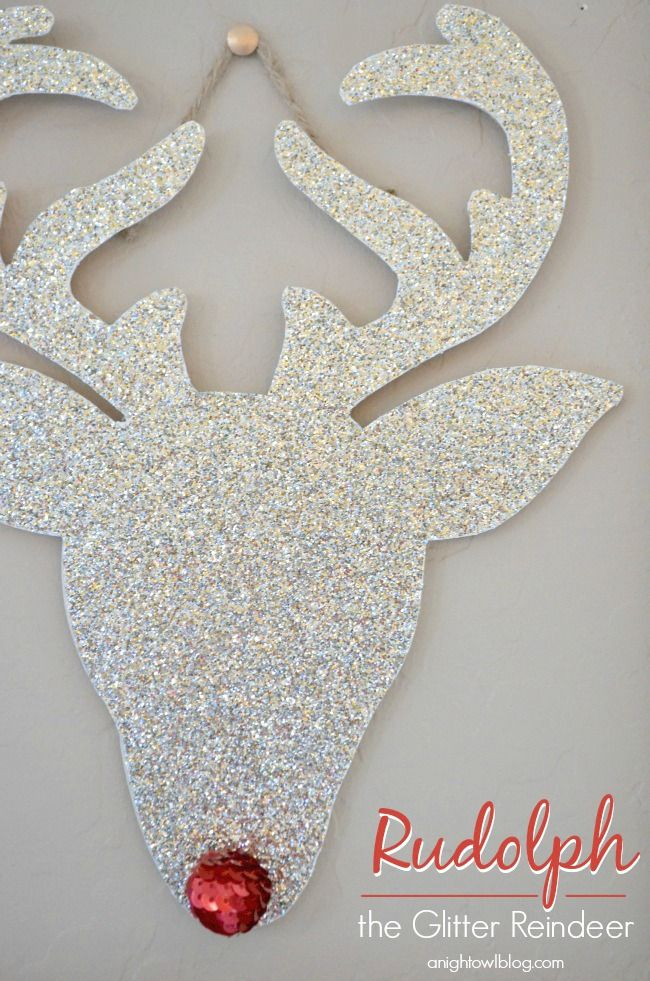 You can make your very own Rudolph the Glitter Reindeer in just a few easy steps.