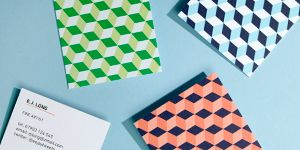 moo.com - great business card option. double sided, various papers and quality, square or traditional shape.