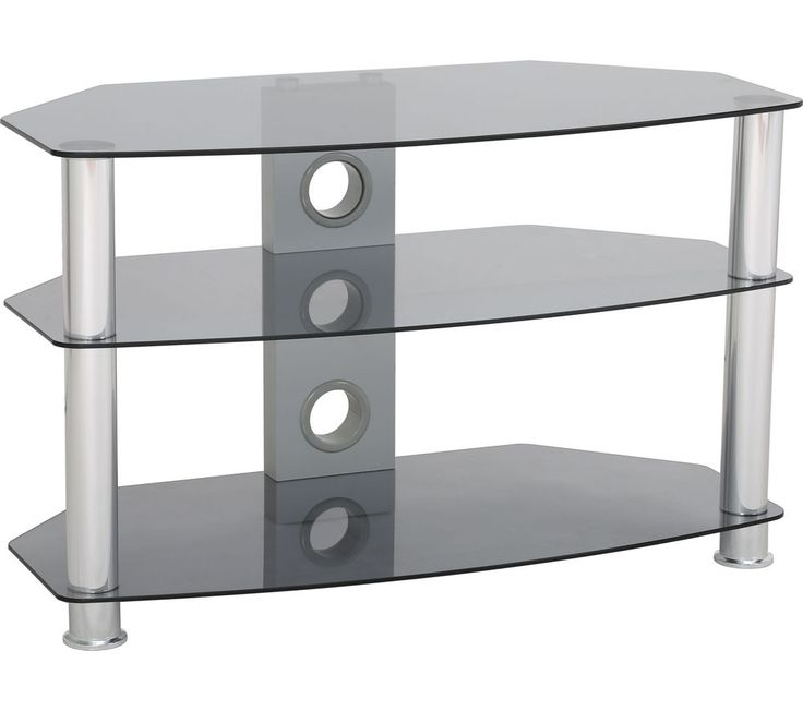 TTAP Classik Curve 1000 TV Stand - Grey Tint, Grey: Top features: - Proudly display flat or curved TVs up to… #Electrical #HomeAppliances