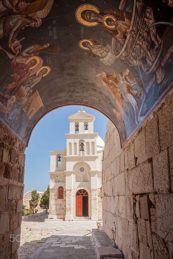 Zoodohos Pigi monastery, Anafi, Greece