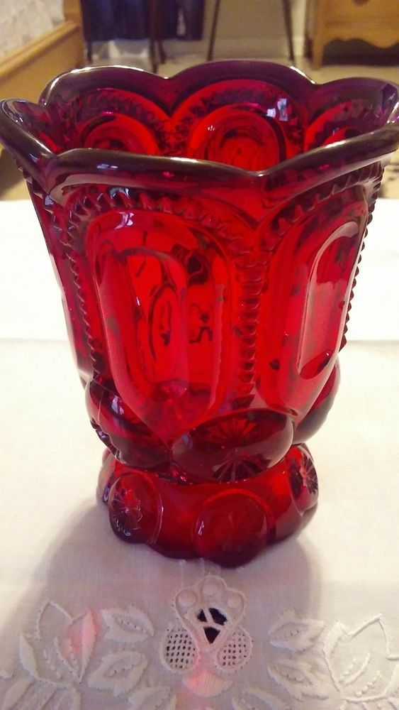 beatiful red moon and stars spooner piece great condition highly Collected Nice  | eBay