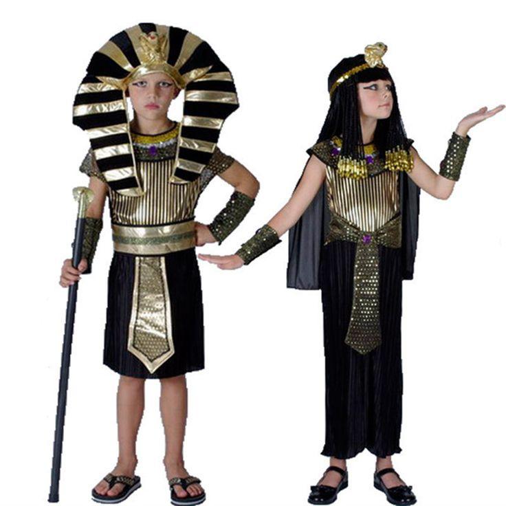 Egypt Princess Costumes 2016 New Egyptian pharaoh Cosplay masquerade Halloween adult childen kid Girl costume Cleopatra royal