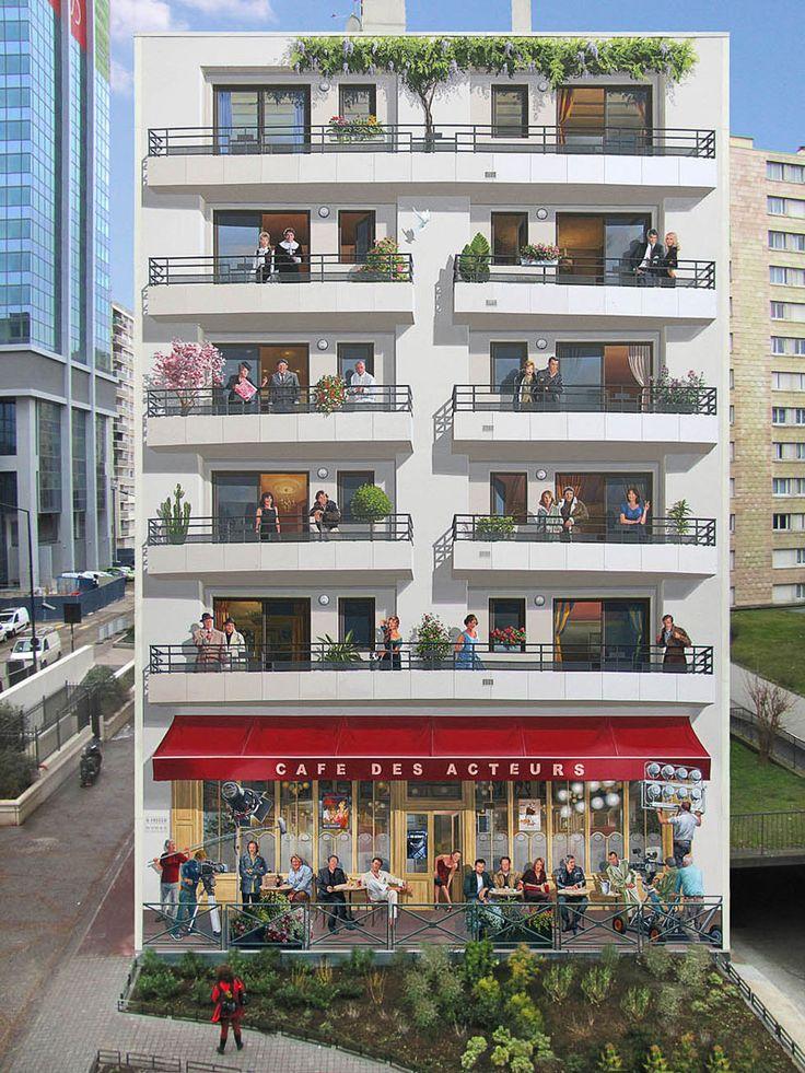 Trompe l'oeil urbani che vivacizzano la città