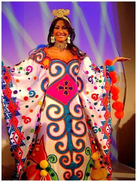 Traje Típico que presentó Federica Guzmán en el Mis Mundo 2006 una fantasía goajira.  ¡¡Venezolanas!!: