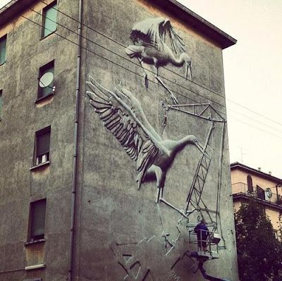 Zebra Art: Street Art by Italian artist Eron