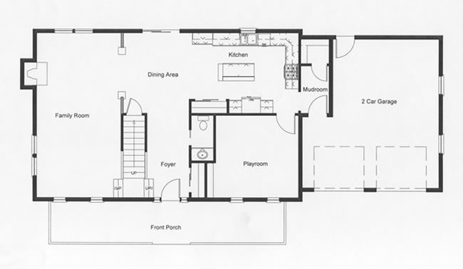 Colonial open floor plans google search for the home for Open floor plan colonial