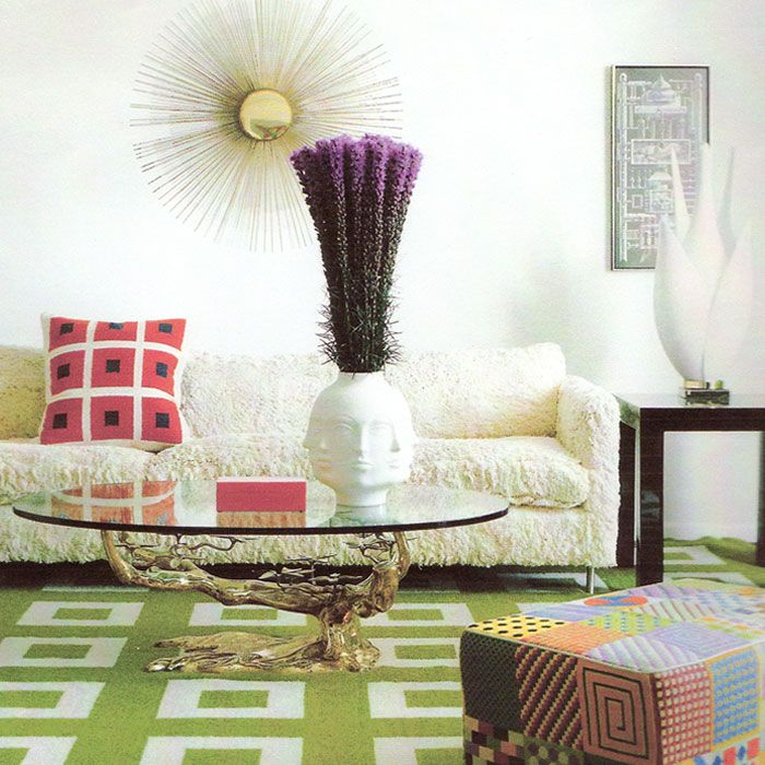 I've always loved Jonathan Adler's style and bold risk taking: Coffee Tables, Living Rooms, Color, Interiors Design, Memorial Tables, Interiordesign, Beaches Living, Beaches Interiors, Jonathan Adler