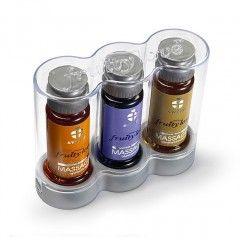 Owocowy olejek do masażu - Swede Fruity Love Massage Gift Package 2 Zestaw Morela Jagoda Wanilia