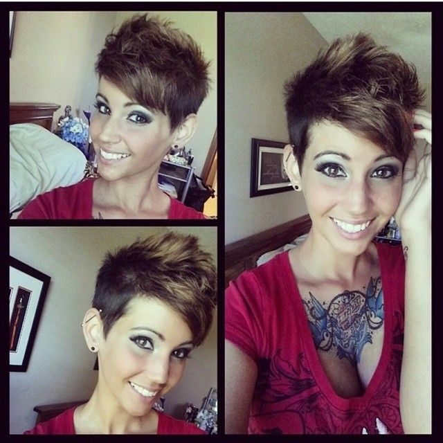 Kurzhaarfrisuren für dunkle Haare, die Augen machen!