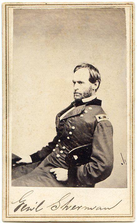 General William T Sherman Civil War New Orleans CDV Photo w Revenue Stamp   eBay