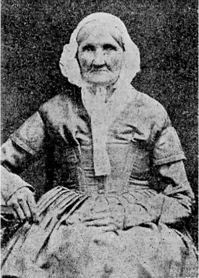 Hannah Stilley, nacida en 1746, probablemente fue una de las personas más grandes que fue fotografiada en 1840