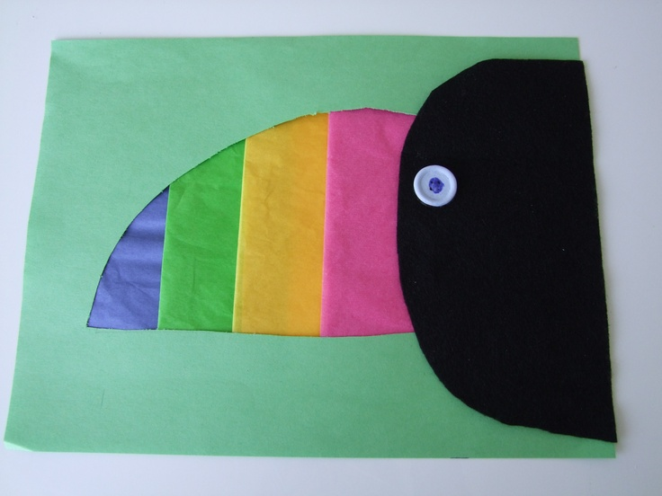 Cute paper toucan...perfect for our unit on Brazil!