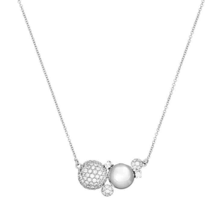 Hulchi Belluni Pastille Collection White Gold & Diamond Pendant Neckalce featured in vente-privee.com
