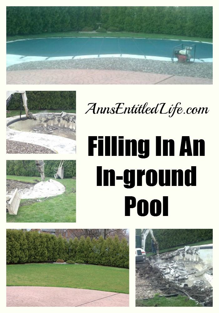 Filling In An In Ground Pool Ground Pools Pictures And Everything
