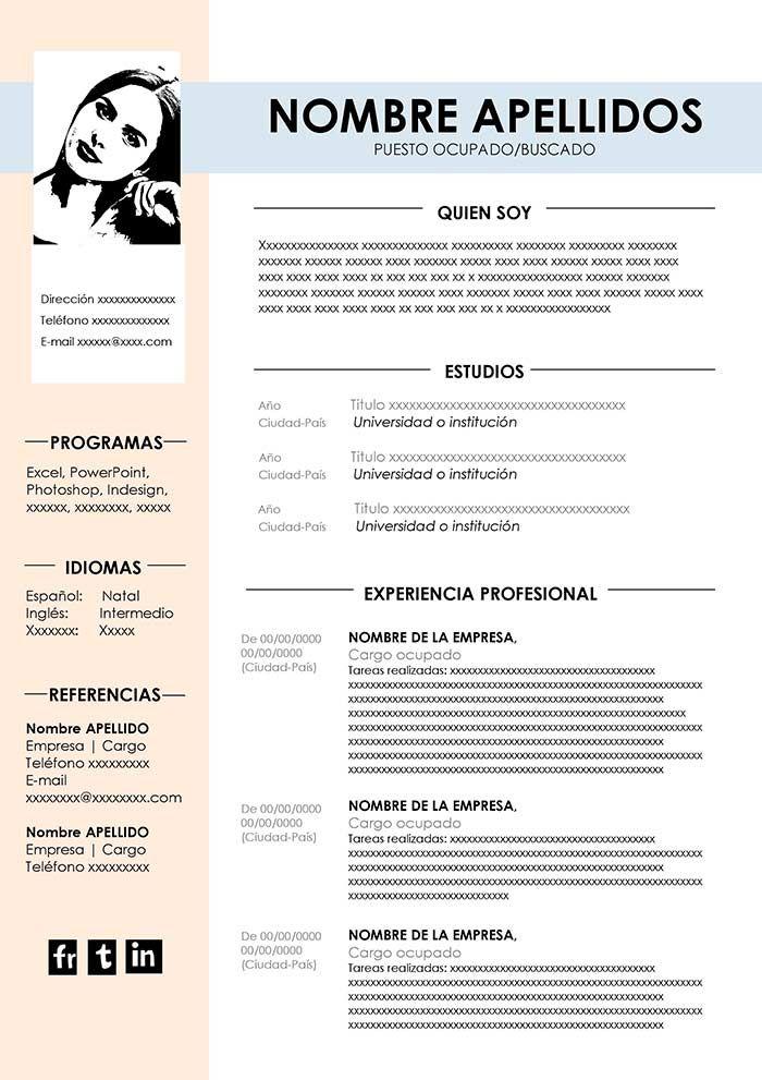 Curriculum Vitae Funcional Gratis Ejemplos De Curriculum Vitae Modelos De Curriculum Vitae Tipos De Curriculum