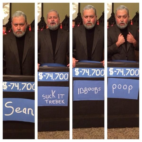 Celebrity jeopardy costume