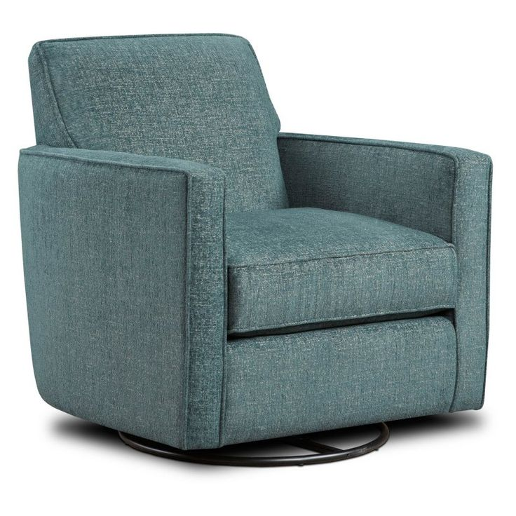 Chelsea Home Furniture Westwood Swivel Glider Chair - Plushtones Agean - 55402-G-PA
